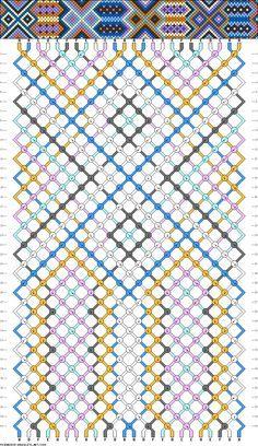 Double Tribal Pattern Friendship Bracelet