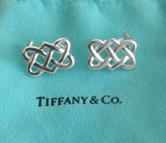 796c7fd9d Tiffany and Co Paloma Picasso Celtic Love Knot Earrings, Silver 925 Pouch,  Omega Backs. FoundationJewelry on Etsy