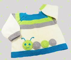 Knitted baby sweater hand-knitted woolen by Svetlanababyknitting
