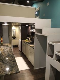 tiny house on wheels thow beach color theme dual two staircases