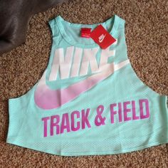 7a3159f942d1 Nike Mesh Crop Top Nike Track and Field sleeveless mesh crop top Nike Tops  Crop Tops