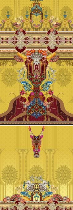 Textile Design, Baroque, Bohemian Rug, Textiles, Art Paintings, 3 Piece, Decor, Collection, Ideas