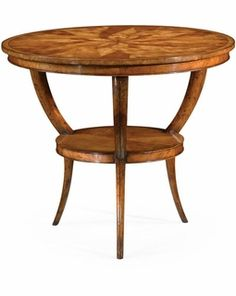 492726 Jonathan Charles Luxe Two-Tier Marquetry Centre Table