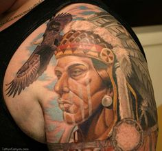 Warrior shoulder tattoo