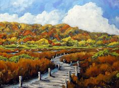 Artwork >> Richard T Pranke >> Marshlands in Fall