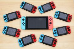 Share the joy with these Nintendo Switch Cookies! A delicious chocolate cookie you can eat at home or on the go, just like the Nintendo Switch! Cookies Et Biscuits, Sugar Cookies, Nintendo Party, Nintendo Cake, Cookie Pictures, Video Game Party, Video Games, Frozen Cookies, Super Mario Party