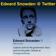 Edward Snowden, Public, Twitter, Fictional Characters