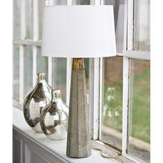 Regina Andrew Concrete And Brass Table Lamp