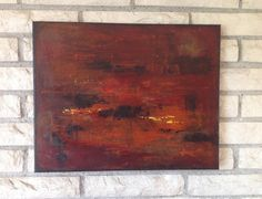 Fire  16 x 20 contemporary bold abstract textured by KTownArt