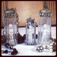 Frozen Charlotte pendants by Cottage 960 https://www.facebook.com/Cottage960/photos/a.531062643588137.133216.289895844371486/788900294471036/?type=1&theater
