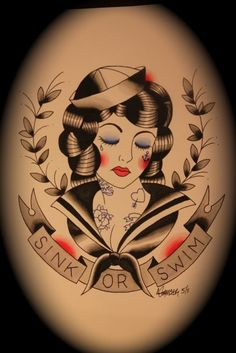 Traditional tattoo flash art by Ahren Stringer