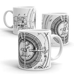 Graphic Steampunk Clock Inner Works Ceramic Mug