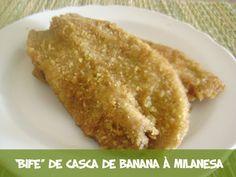 #receita #vegan #culinária #gastronomia Bife de casca de banana