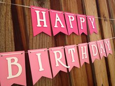 This is a super cute HAPPY BIRTHDAY banner! It is the perfect addition for any birthday celebration!    ~~~~If you would like to add a name