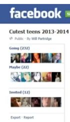 """Facebook shuts down """"Cutest Teen 2013"""" Page.  This is a must read for parents, as there are other sites like this via Social Media."""