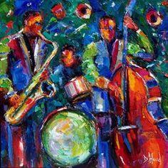 Jazz painting, jazz art, jazz abstract, by Debra Hurd, original . Jazz Art, Jazz Music, Funky Jazz, Jazz Painting, Jazz Trumpet, Jazz Players, Music Artwork, Cool Art, Original Paintings