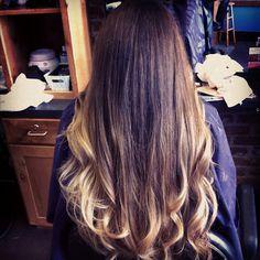 Pretty hair color - ombre  via: Alex Crabtree Hair Stylist Blog
