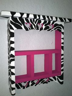 Hey, I found this really awesome Etsy listing at http://www.etsy.com/listing/159564363/very-cute-hot-pink-and-zebra-wall-curio
