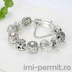 Bratara charm model 28 placata cu argint Pandora Charms, Model, Charmed, Bracelets, Jewelry, Jewlery, Jewerly, Scale Model, Schmuck