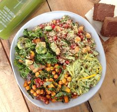 Eating in London: Buying Deliciously Ella Snacks & Salads. I wanna hit up London strictly for this!'