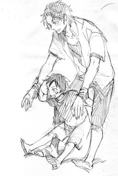 Ace and Little Luffy Manga Anime One Piece, One Piece Fanart, Anime Manga, One Piece Crew, One Piece World, Ace Sabo Luffy, One Piece Drawing, Poses, One Punch Man