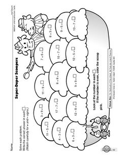 math worksheet : first grade math addition  subtraction within 20 worksheets ice  : Addition And Subtraction To 20 Worksheets
