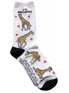 These very informational socks. | 27 Adorable Giraffe Products You Need In Your Life
