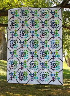 Two blocks create this fresh quilt with a traditional feel but modern twist. There are no classic borders and it is Jelly Roll, Bali Pop or scrap pile friendly!