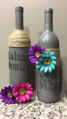 Wine bottle diy home decor