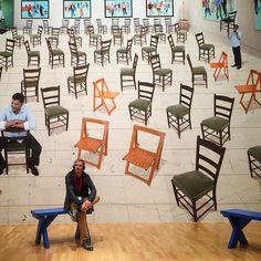 Planing 2017  #art #letsthink #plan #introvert #reflection #reflect #think #inmyhead #thoughts #chairs #nextyear #davidhockney