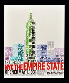 Typography: Empire State Building on Behance