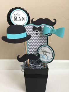 Resultado de imagen para baby shower mustache #decoracionbabyshower