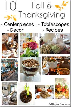 Ten Fall and Thanksgiving Projects and Recipes // Features N~S~E~W Traditions Thanksgiving Linky Party