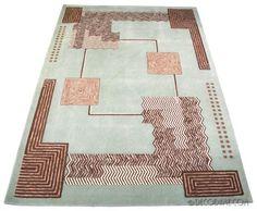 art deco modernist style area rug - ivan da silva bruhns