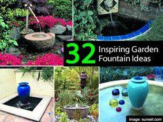 17 Amazing Homemade Garden Fountains
