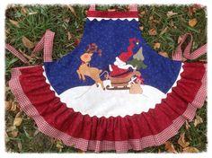 Child's Christmas apron.