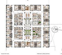 Hospital Interior Design, Floor Plan And Layout Psychiatry Unit Radboudumc.  Interior Design Suzanne Holtz Studio