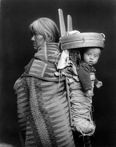 Navajo woman and child - circa 1930