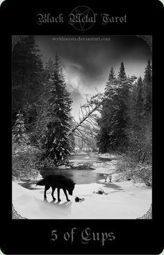 Black Metal Tarot 17 by wyldraven.deviantart.com on @DeviantArt