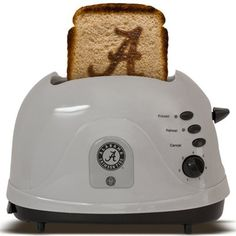 Alabama Crimson Tide Silver Team Logo Pro Toaster - WOW