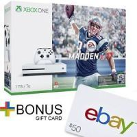 Buy Xbox One S 1TB Console Madden NFL 17 Bundle (White)  $50 Gift Card only $299.99