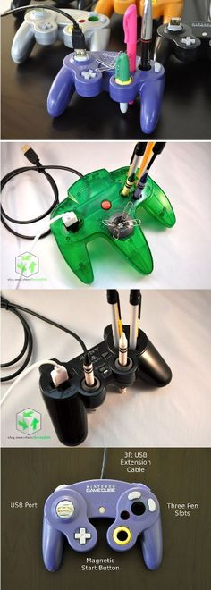 Upcycle your old game controllers into desk organizers!