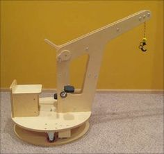 Kid Crane Riding Toy, Papa needs to make this for Sawyer's 2nd b-day.
