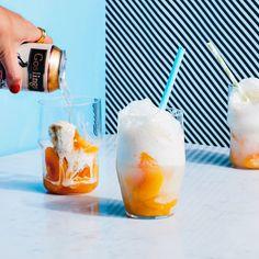 3-Ingredient Ginger-Peach Ice Cream Floats