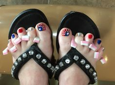 My Fourth of July Pedicure