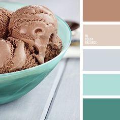 Sea wave color, coffee color, bage