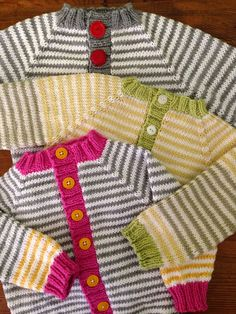 gumdrops baby cardigan. Use up scraps