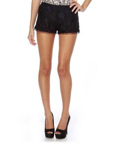 black lace shorts $39 Just bought these today!
