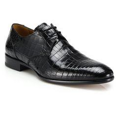b4e69d97 Mezlan Gastone Crocodile Derby Shoes : Mezlan Shoes ($1,195) ❤ liked on  Polyvore featuring · Crocs Shoes For MenMen's ShoesMezlan ShoesBlack ...