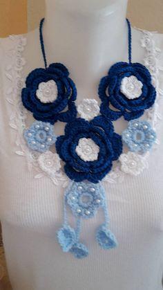 ElinorHandmade / Veľké modré kvety